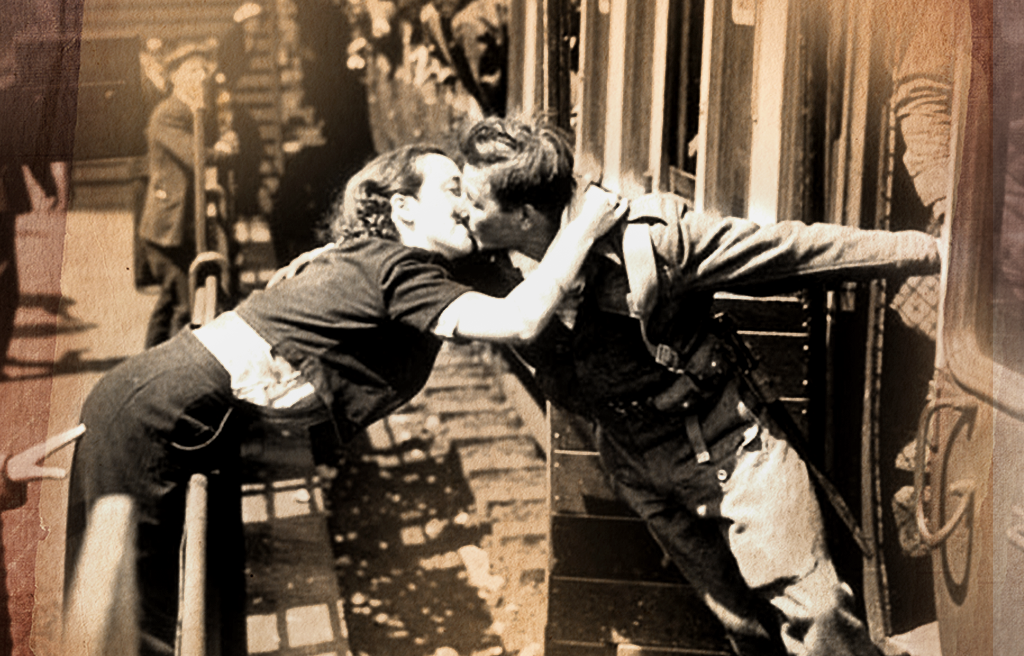 wartime kisses